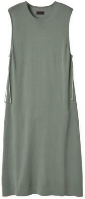 Oyuna Gabek Knitted Luxury Green Mist Cotton Dress