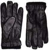 New Mens Calvin Klein Black Octave Leather Gloves