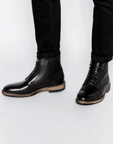 Frank Wright Acton Leather Boots - Black
