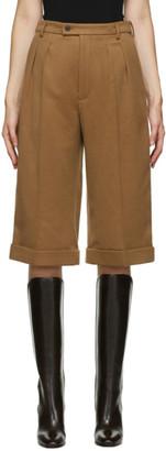 Saint Laurent Brown Cashmere Crop Trousers