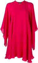 Plein Sud Jeans draped cape dress - women - Silk - 36
