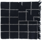 Dondup frayed edge plaid scarf - men - Polyamide/Wool - One Size