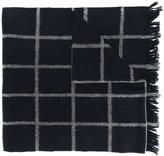 Dondup frayed edge plaid scarf
