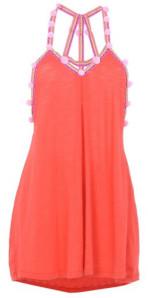 Pitusa Mini Blood Orange Pom Pom Dress - o/s - Orange