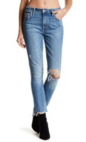 Lovers + Friends Logan High Rise Distressed Tapered Leg Jeans