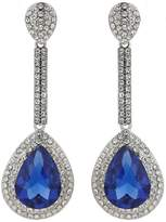 Mikey Eclipse Cubic Long Drop Earrings