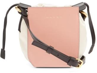 Marni Gusset Small Leather Bucket Bag - Pink Multi