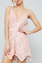 Dolores Promesas Hell Pink Lace Romper