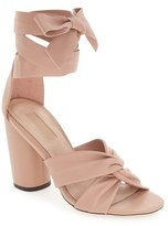 Topshop Women's 'Rosetta' Soft Knot Wraparound Sandal