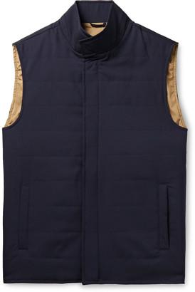 Peter Millar Marina Quilted Merino Wool Gilet - Blue