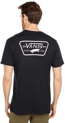 Vans Full Patch Back Short Sleeve Tee (Black Cool Pink) Men's Clothing