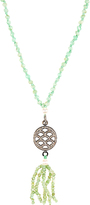 Jade Jagger Diamond, chrysoprase & silver necklace