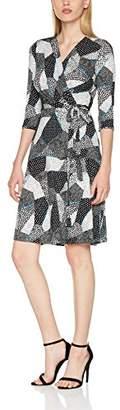Yumi Monochrome Wrap Dress