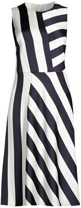 BOSS Dalta Striped Dress