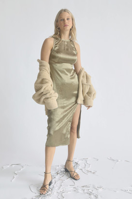 Urban Outfitters Sky High-Neck Midi Slip Dress