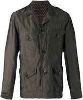 Paul Smith notched collar jacket - men - Cupro - M