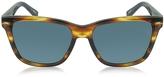 Ermenegildo Zegna EZ0002 50V Havana & Blue Acetate Men's Sunglasses