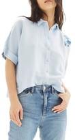 Topshop Women's Kady Tiger Embroidered Shirt
