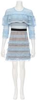 Self-Portrait SELF PORTRAIT Stripe Grid Mini Dress
