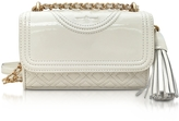 Tory Burch Fleming Patent New Ivory Micro Shoulder Bag