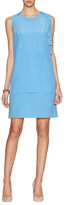 Magaschoni Washed Silk Asymmetrical Overlay Dress
