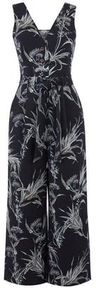 Warehouse Leaf Button Culotte Jumpsuit