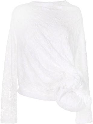 Comme des Garcons Oversized Knot Lace Blouse