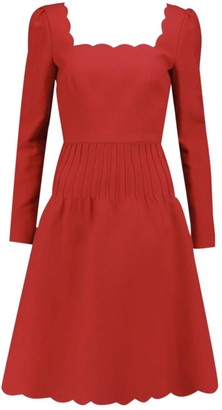 Valentino Red Wool Dress for Women