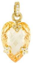 Judith Ripka 18K Diamond Canary Crystal Enhancer Pendant