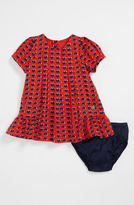 Little Marc Jacobs Heart Print Dress & Bloomers (Baby)