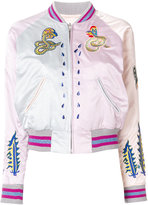 Diesel embroidered snakes bomber jacket - women - Polyester - XS