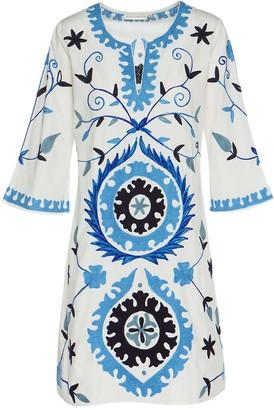 Ada Kamara Mini Suzanni White Blue Dress
