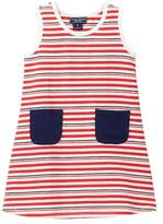 Toobydoo Rouge Bleu Striped Tank Dress (Toddler Girls)