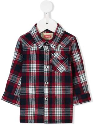 Levi's Kids long-sleeve check shirt
