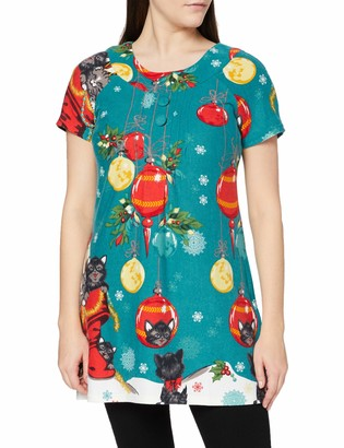 Joe Browns Women's Festive Feline Tunic Shirt