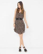 White House Black Market Sleeveless Printed Flirty Dress