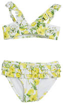 Mayoral Floral Two-Piece Ruffle Swimsuit, Size 3-7