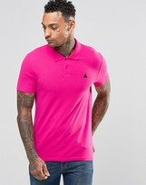 Asos Muscle Pique Polo Shirt With Logo In Pink