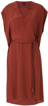 OSKLEN V neck silk dress