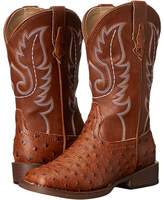 Roper Faux Leather Ostrich Print Cowboy Boots