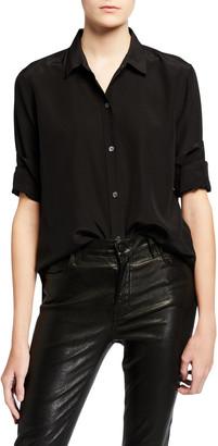 Equipment Leema Silk Button-Down Shirt