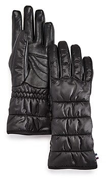 URBAN RESEARCH All Weather Puffer Tech Gloves