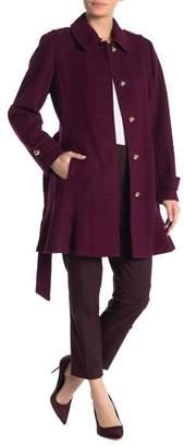 Kate Spade Belted Flare Hem Coat
