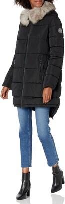 DKNY Women's Poly Puffer Plus Down Alternative Coat