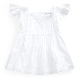Ralph Lauren Lace-Trim Cotton Voile Shirt