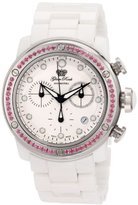 Glam Rock Women's GR50121 Aqua Rock Chronograph White Dial Ceramic Watch
