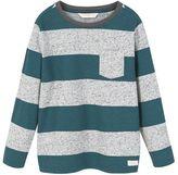 MANGO Boys Chest-Pocket Striped T-Shirt