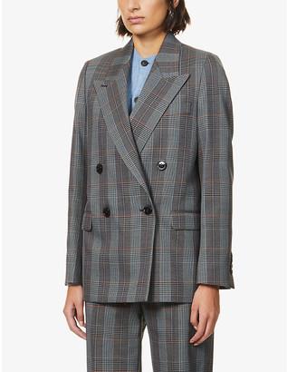 Acne Studios Janny checked wool-blend blazer
