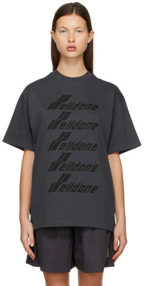 we11done Grey Front Logo T-Shirt