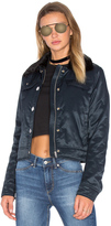 Cheap Monday Plot Jacket With Faux Fur Collar